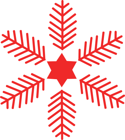 Red snowflake png. Image library with