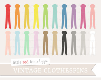 Clothespin clipart. Vintage laundry clothes clothing
