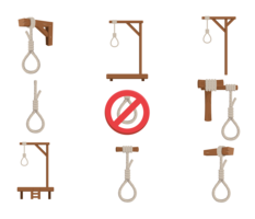Clothespin vector. Gallows game illustration flat