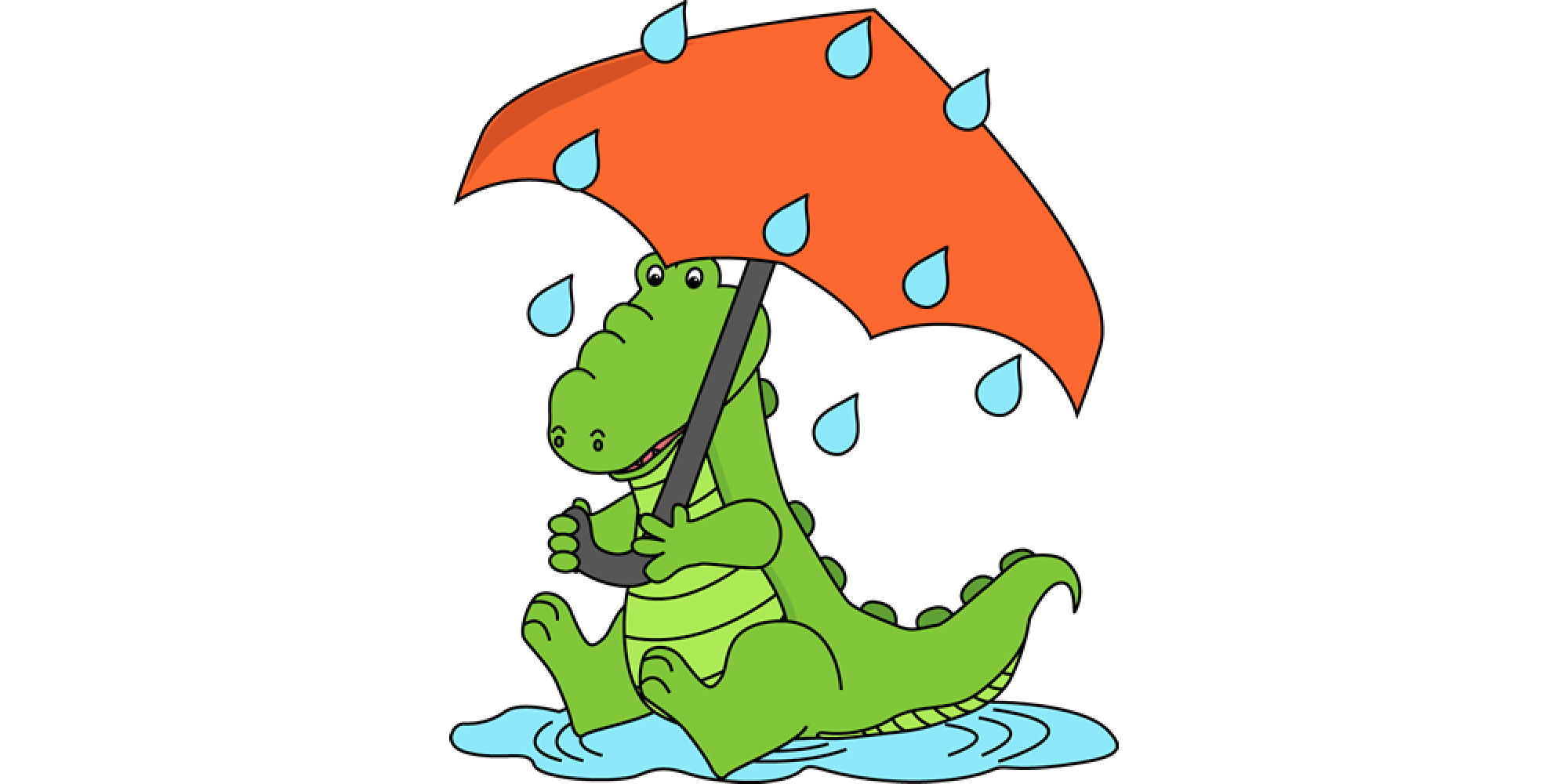 Clothing clip alligator. Wet clothes banner