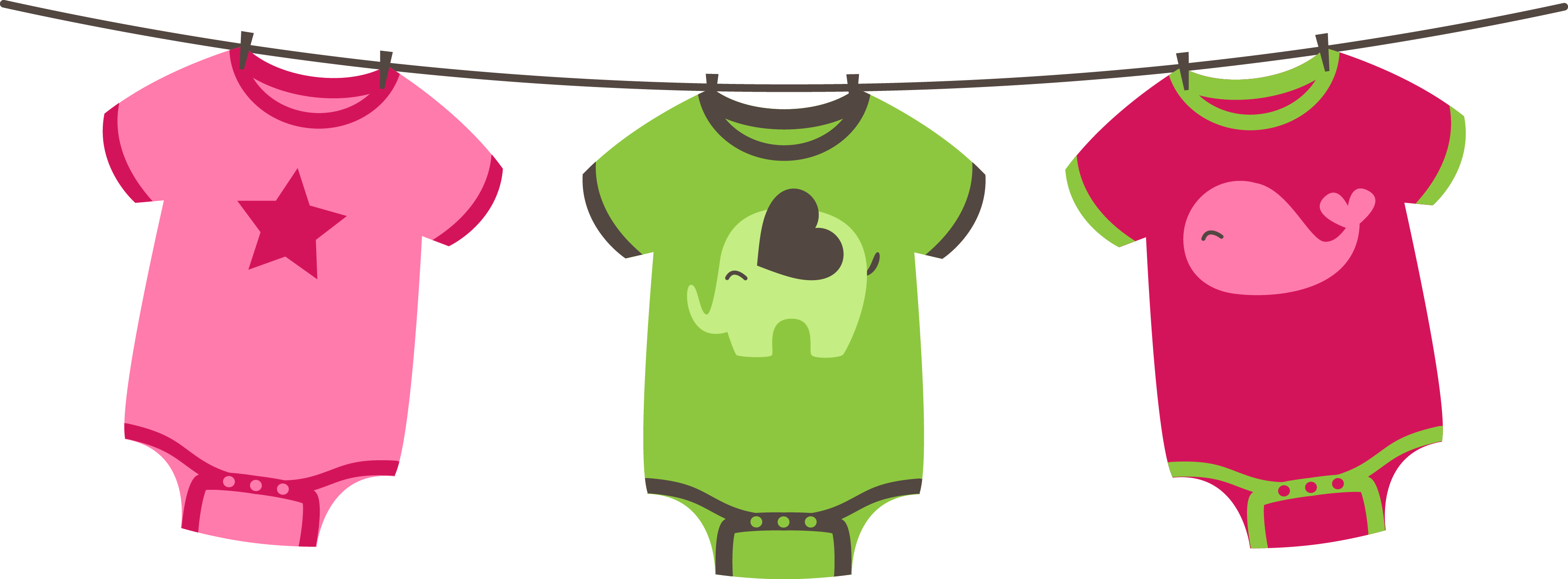 Clothing clip clothes line. Baby image library