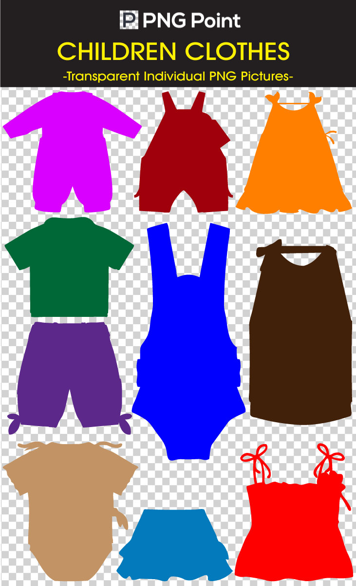 Clothing clip different. Silhouette icons arts and