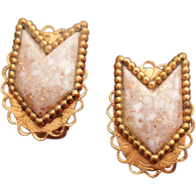 Clothing clip jewelry. These s earrings in