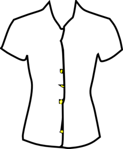 Vector clothes blouse. Womens clipart