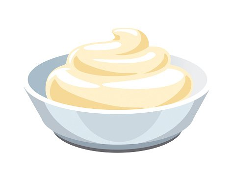 Clotted cream. Sauce mayonnaise clipart image