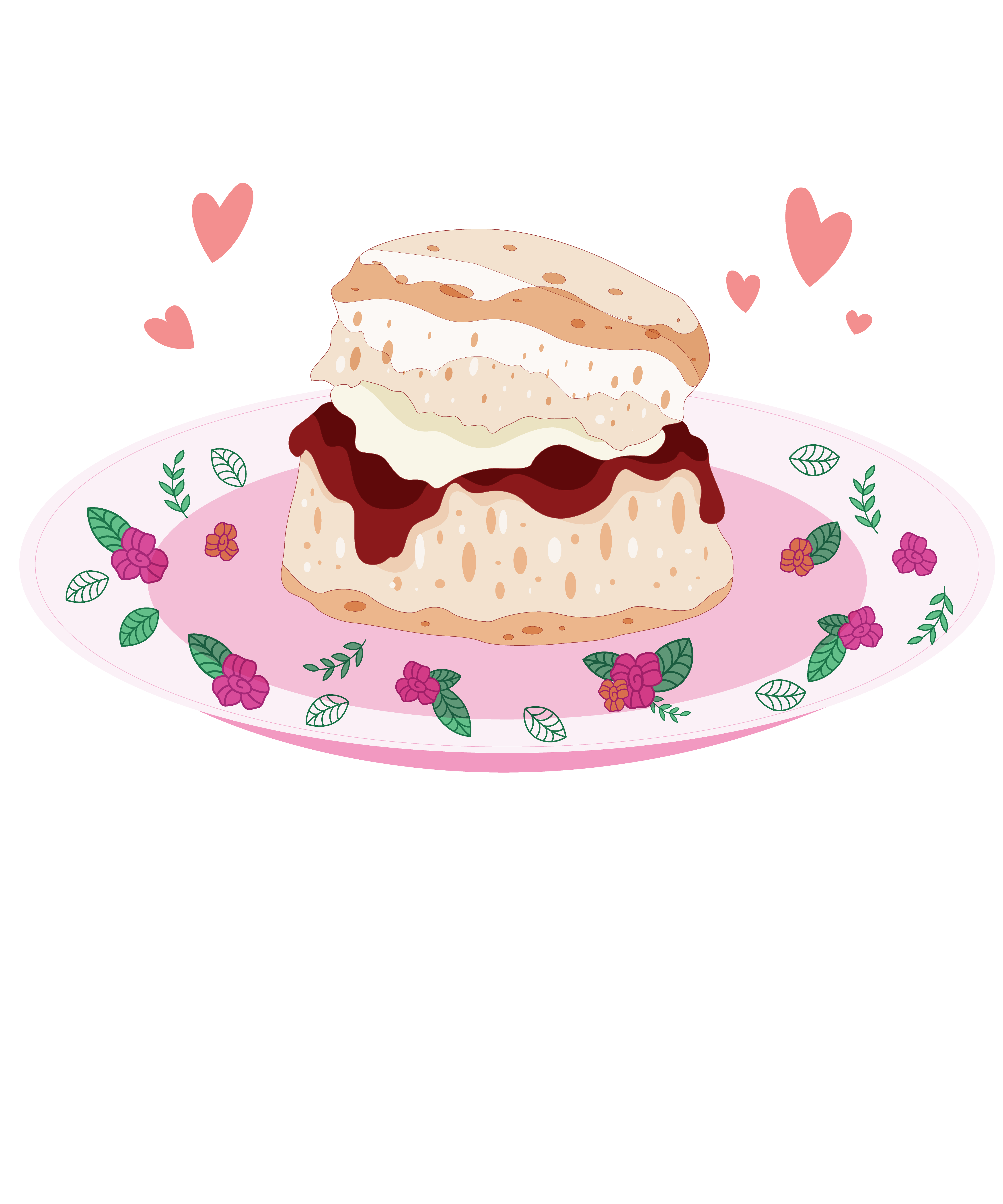 Clotted cream. The traditional scone served