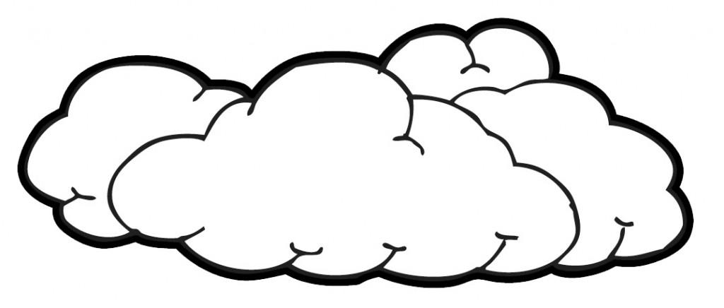 Cloud clipart black and white. Drawing at getdrawings com