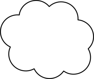 Cloud clipart black and white. Thinking panda free clip