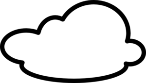Cloud clipart black and white. Clouds panda free images