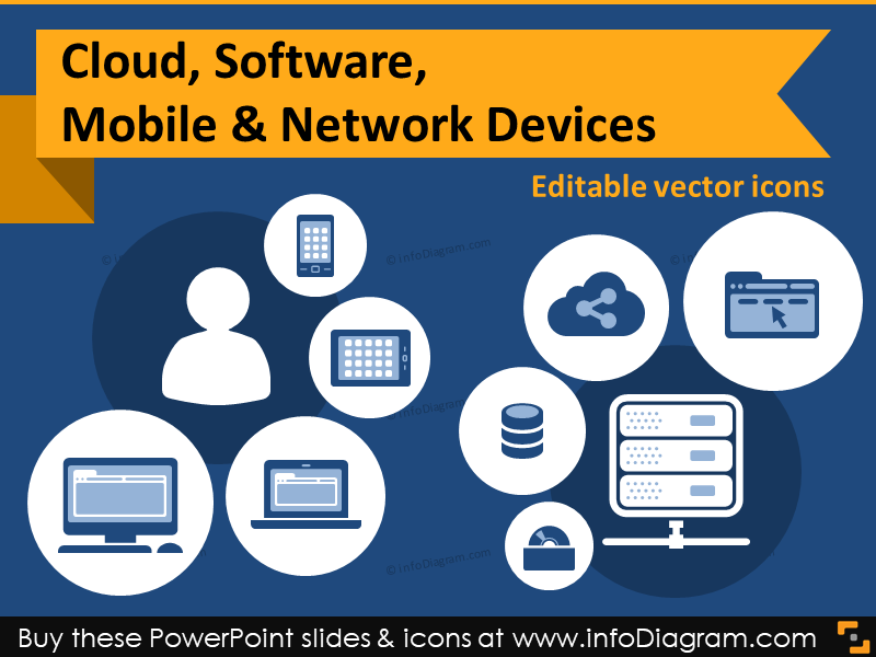 Cloud clipart powerpoint. Great icons in slides
