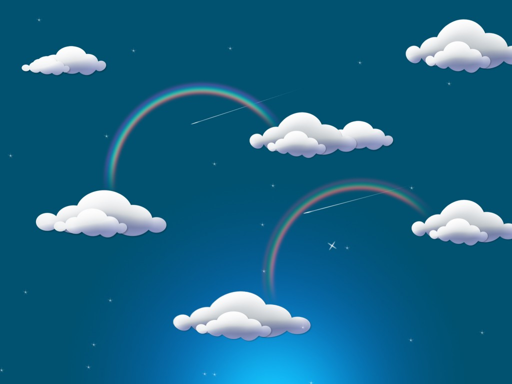 Cloud clipart powerpoint. Free rainbow clouds power