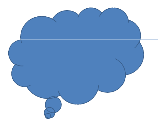 Cloud clipart powerpoint. Line appears through callout