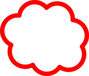 cloud clipart red
