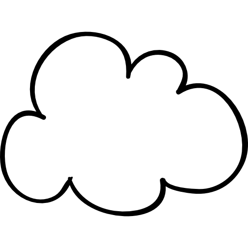Cloud outline png. Sketched shape free weather