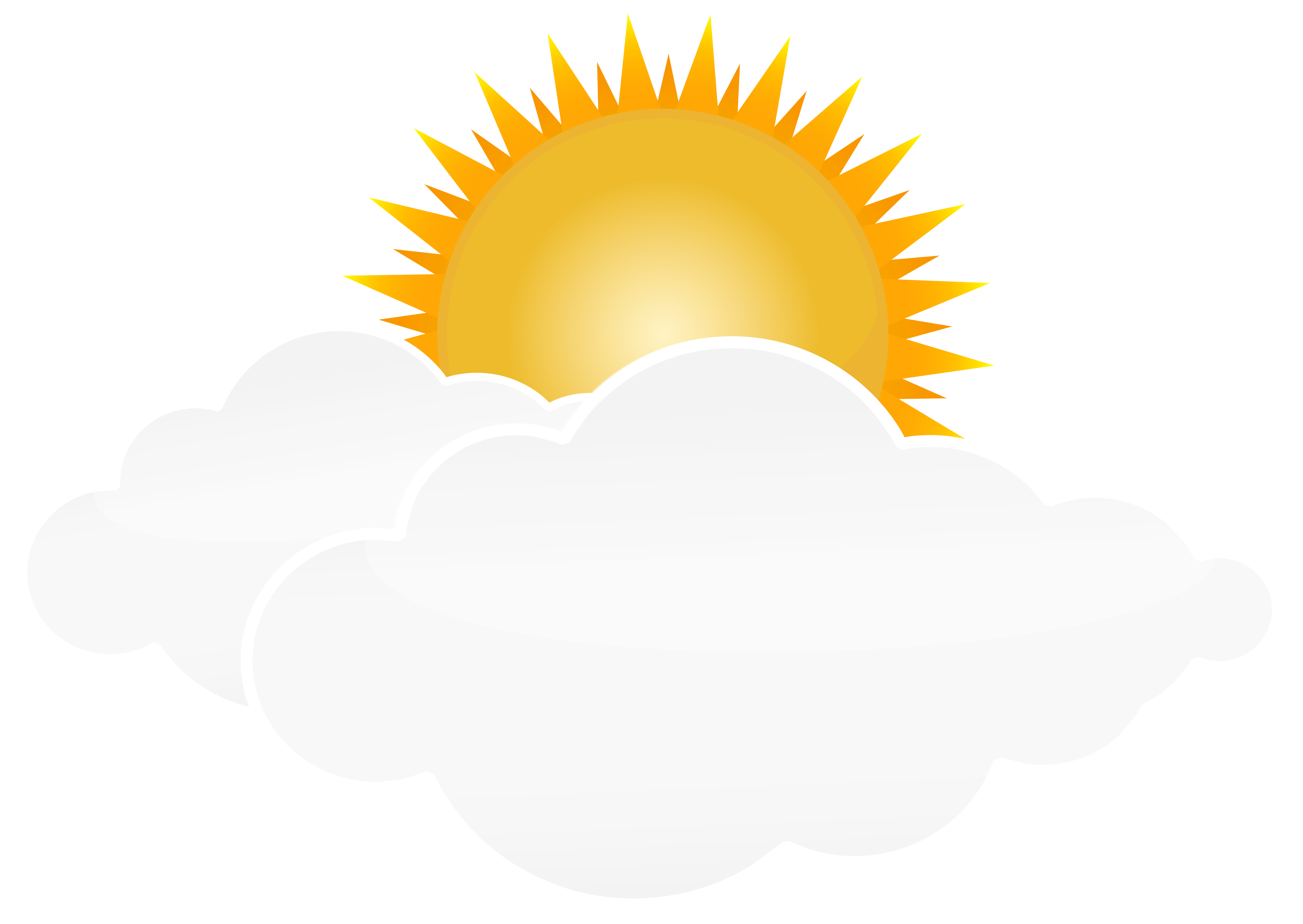 Cloud png clipart. Sun with clouds transparent