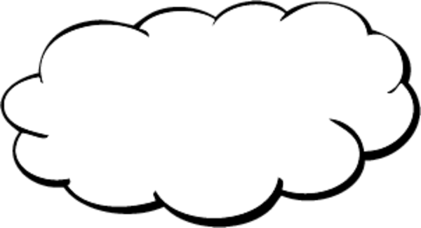 Cloud shape png. Free images at clker