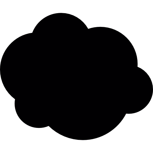 Nubes vector clouds. Cloud silhouette icons free