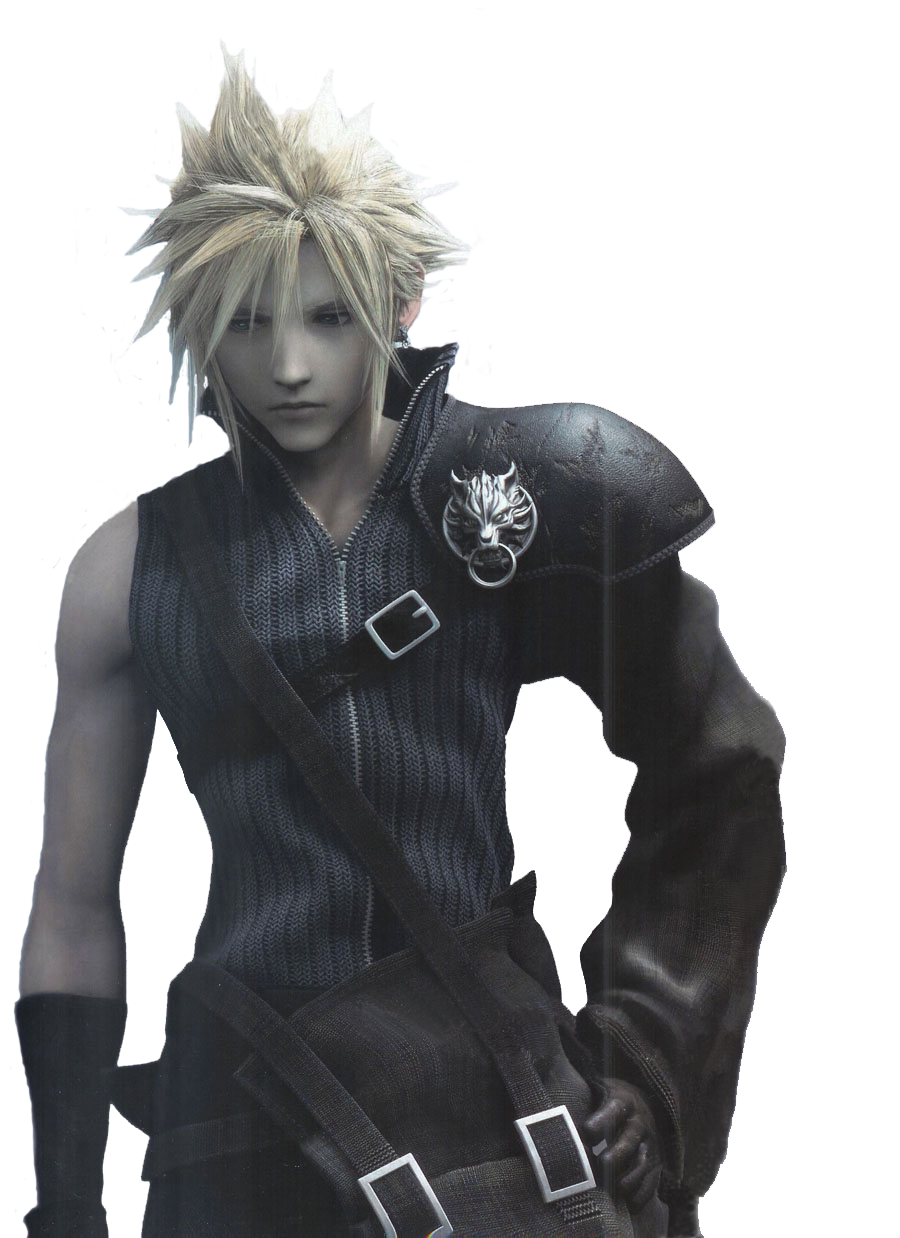 Cloud strife hair png. Anime google search animals