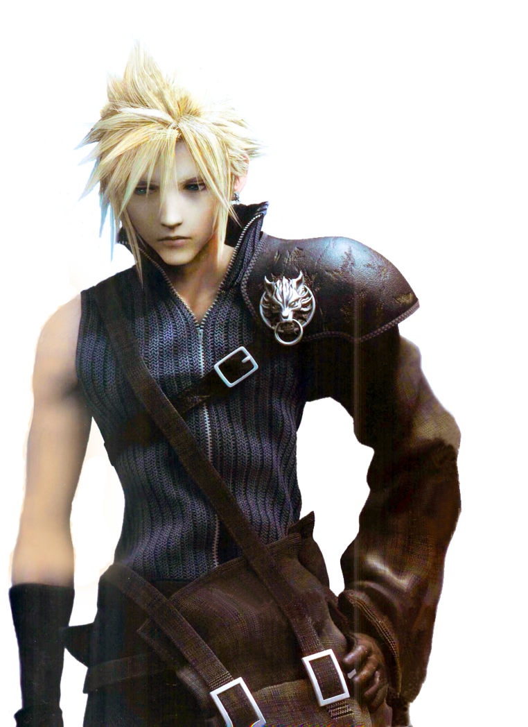 Cloud strife hair png. Photoshop ffvii render by