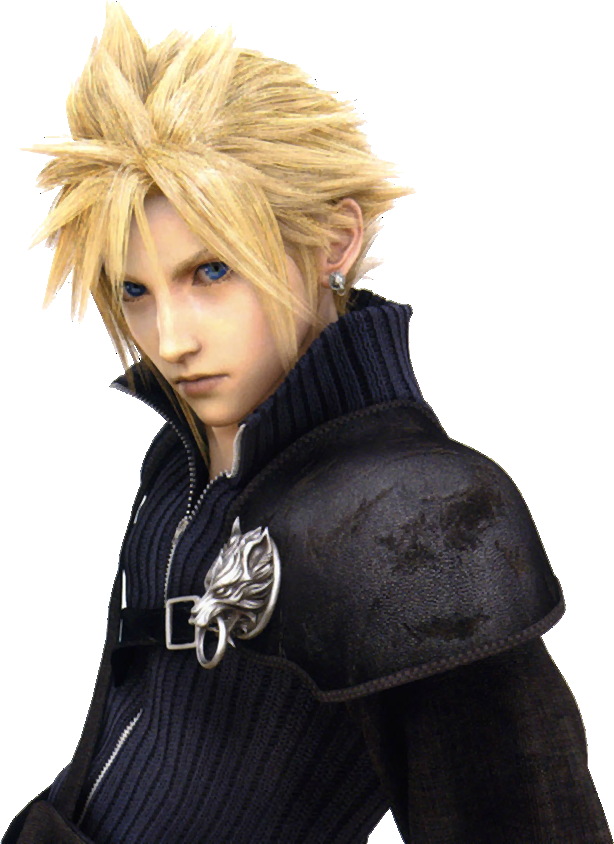 cloud strife hair png