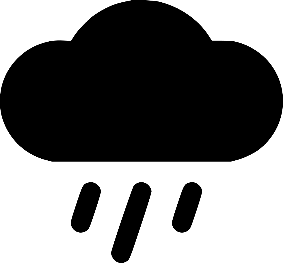 Clouds and rain png. Cloud svg icon free