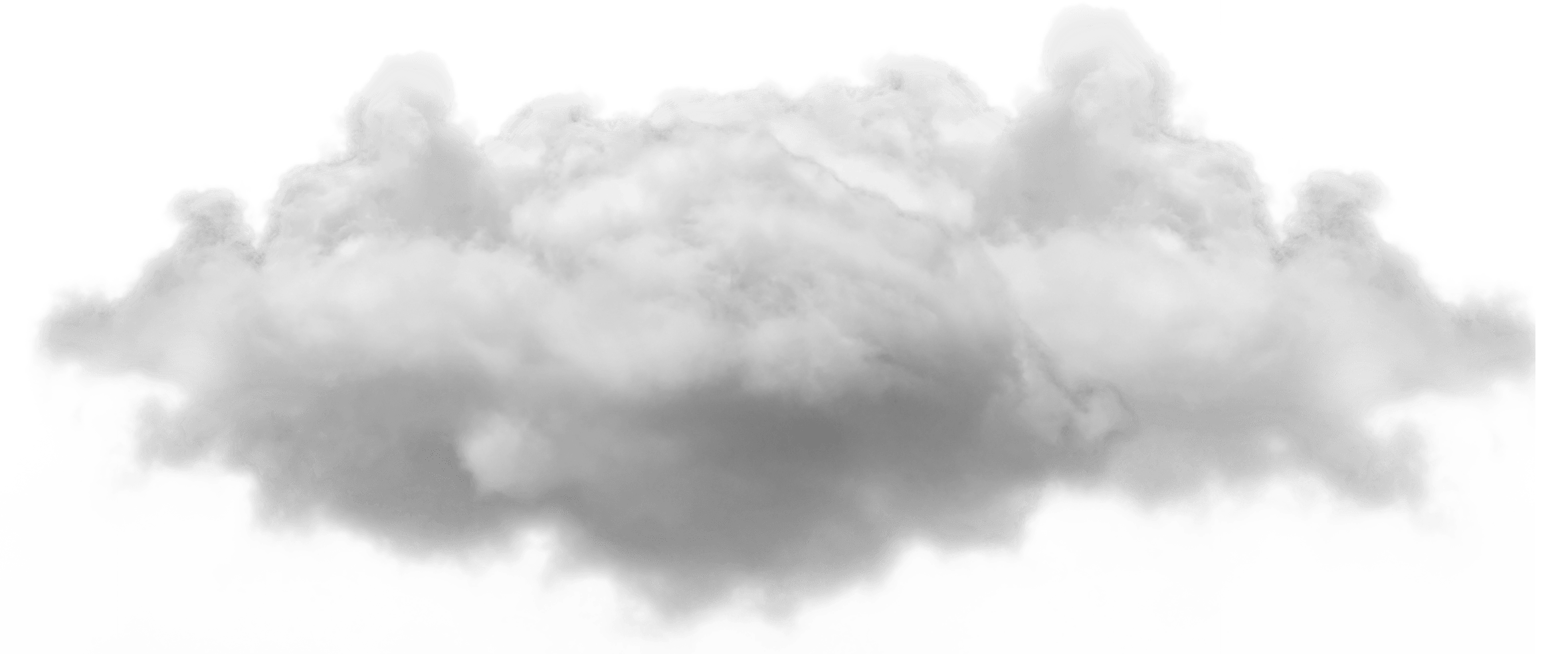 Mist drawing cloud. Small single png image