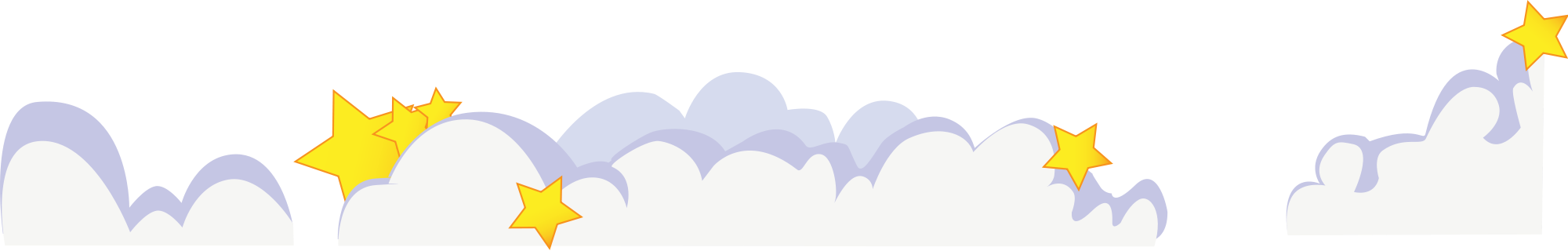 Clouds cartoon png. File cute with stars