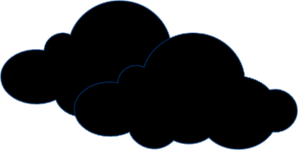 clouds clipart creepy