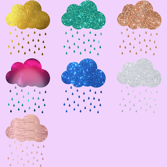 Clouds clipart glitter. Rainbows and by fantasy