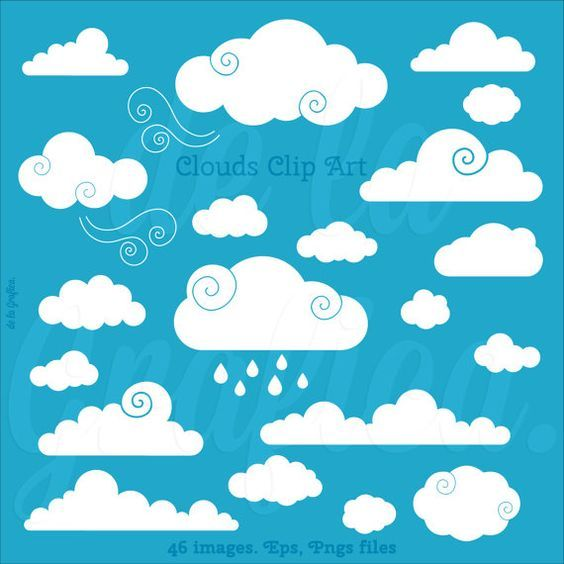 Clouds clipart logo. Clip art vector by