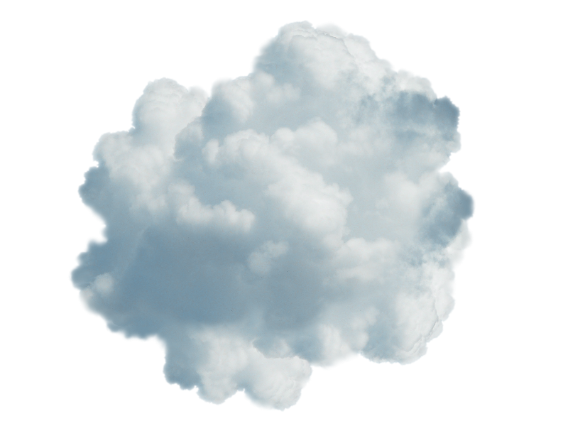 Clouds clipart transparent background. Blue cloud png isolated