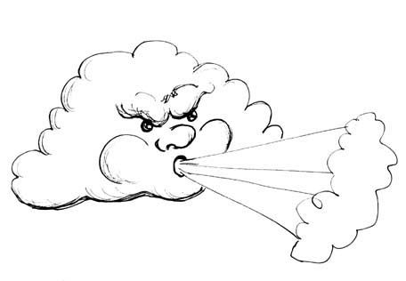 clouds clipart windy