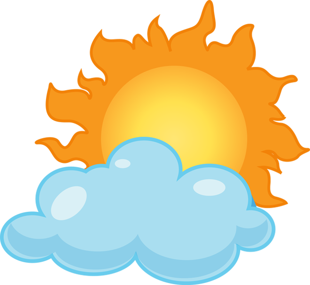 Cloudy clipart s cloudy. Partly