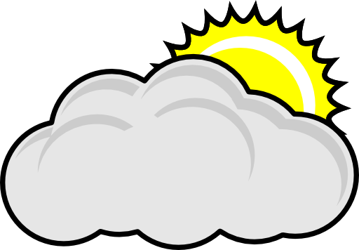 Cloudy clipart.
