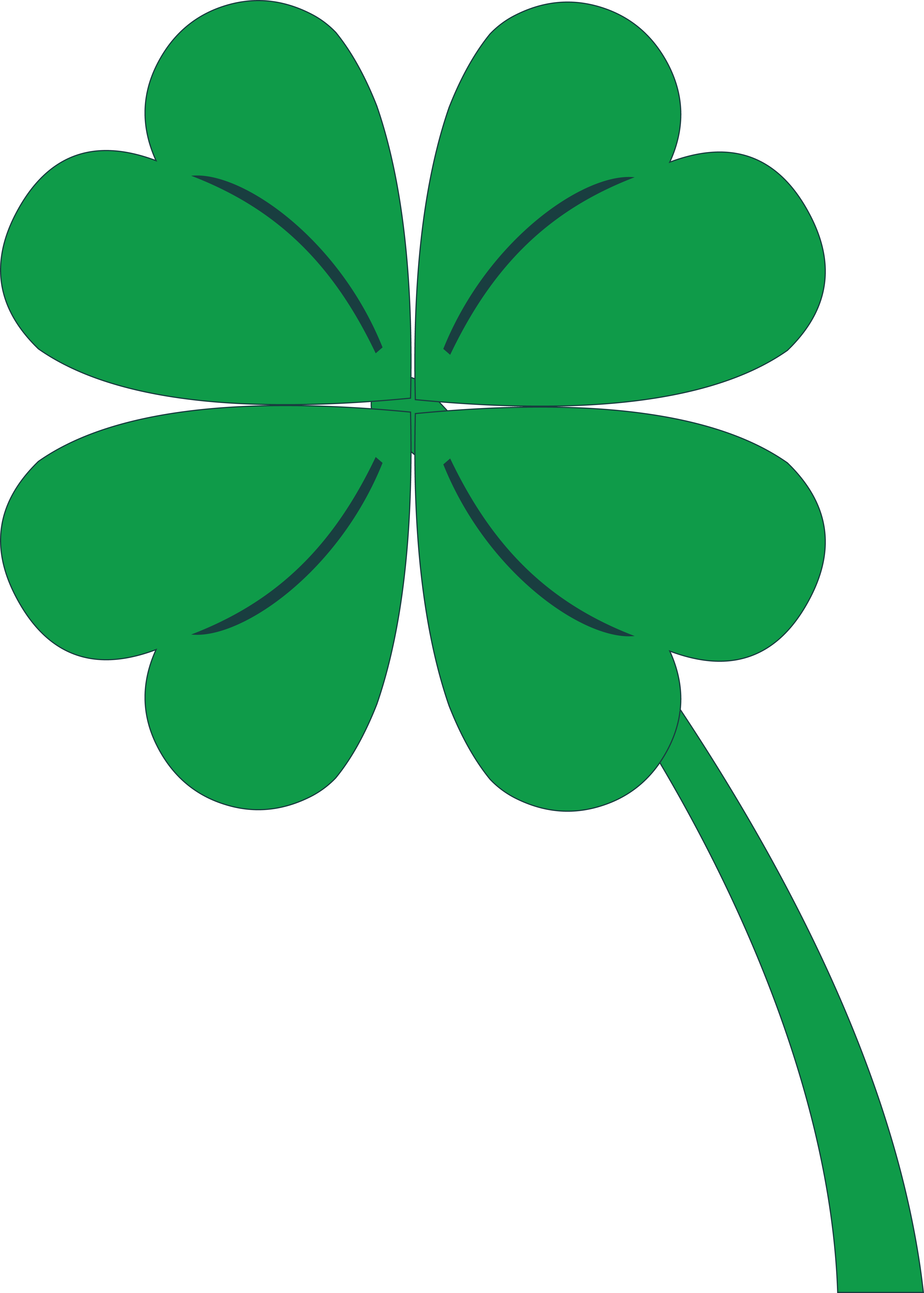 Clover clipart leaft. Three leaf at getdrawings