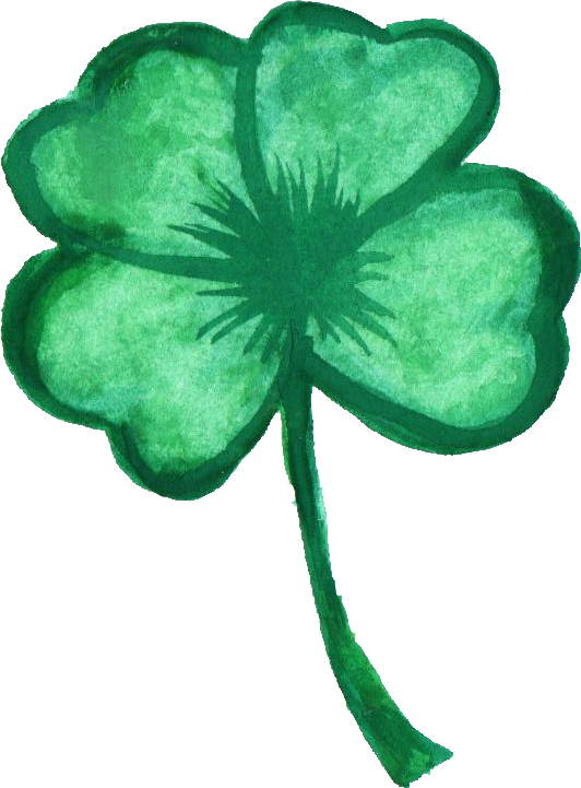 Clover png. Watercolor transparent onlygfx