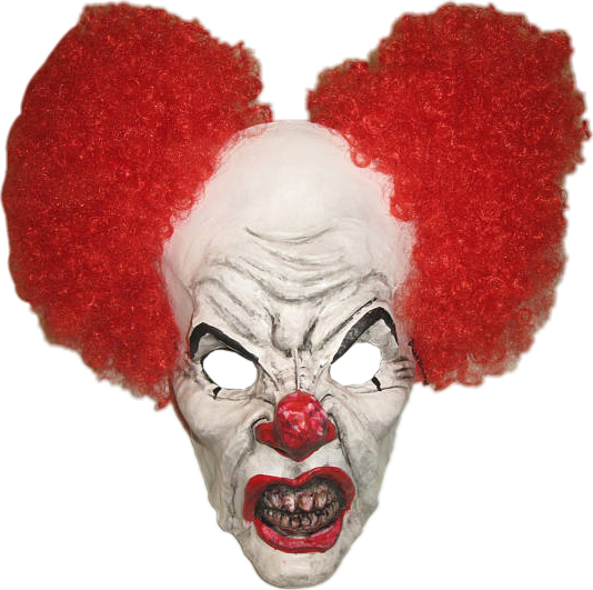 Clown hair png. Pennywise the dancing mask