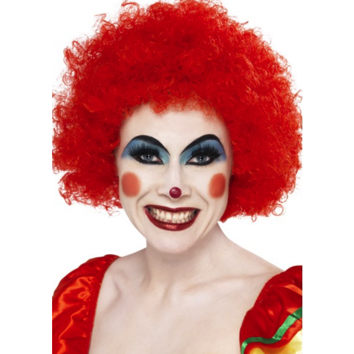 Clown afro png. Crazy wig red