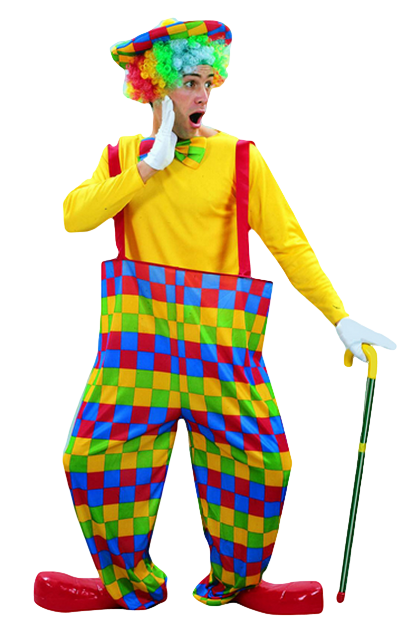 Clown afro png. Mens fancy dress costume