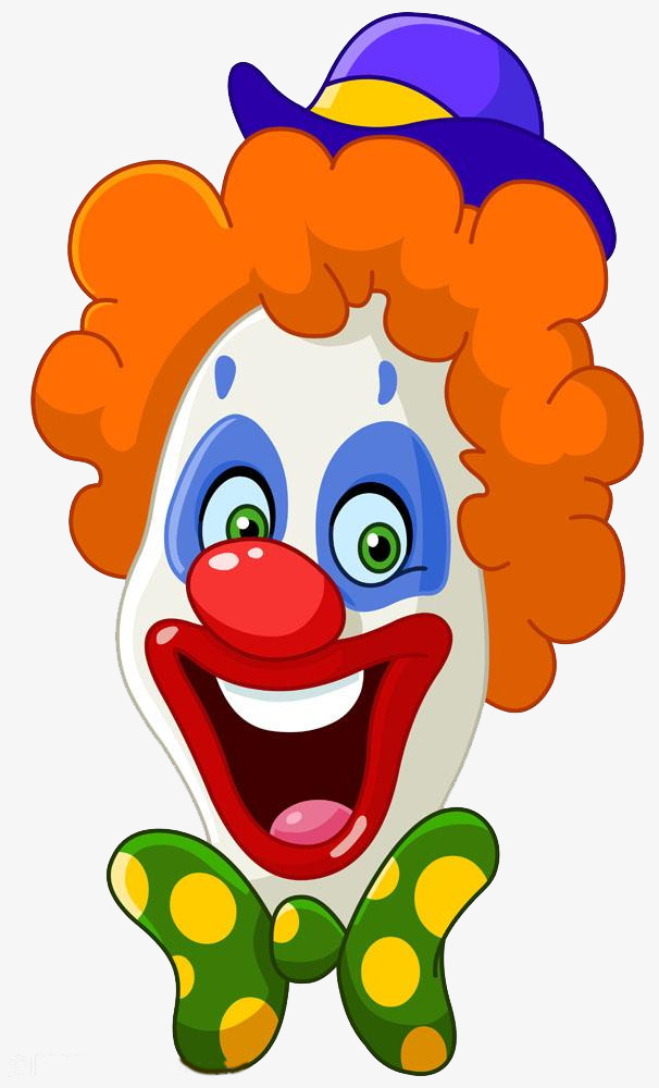 Funny Cartoon Clown, Cartoon, Clown, Smiling Face PNG Image and ...