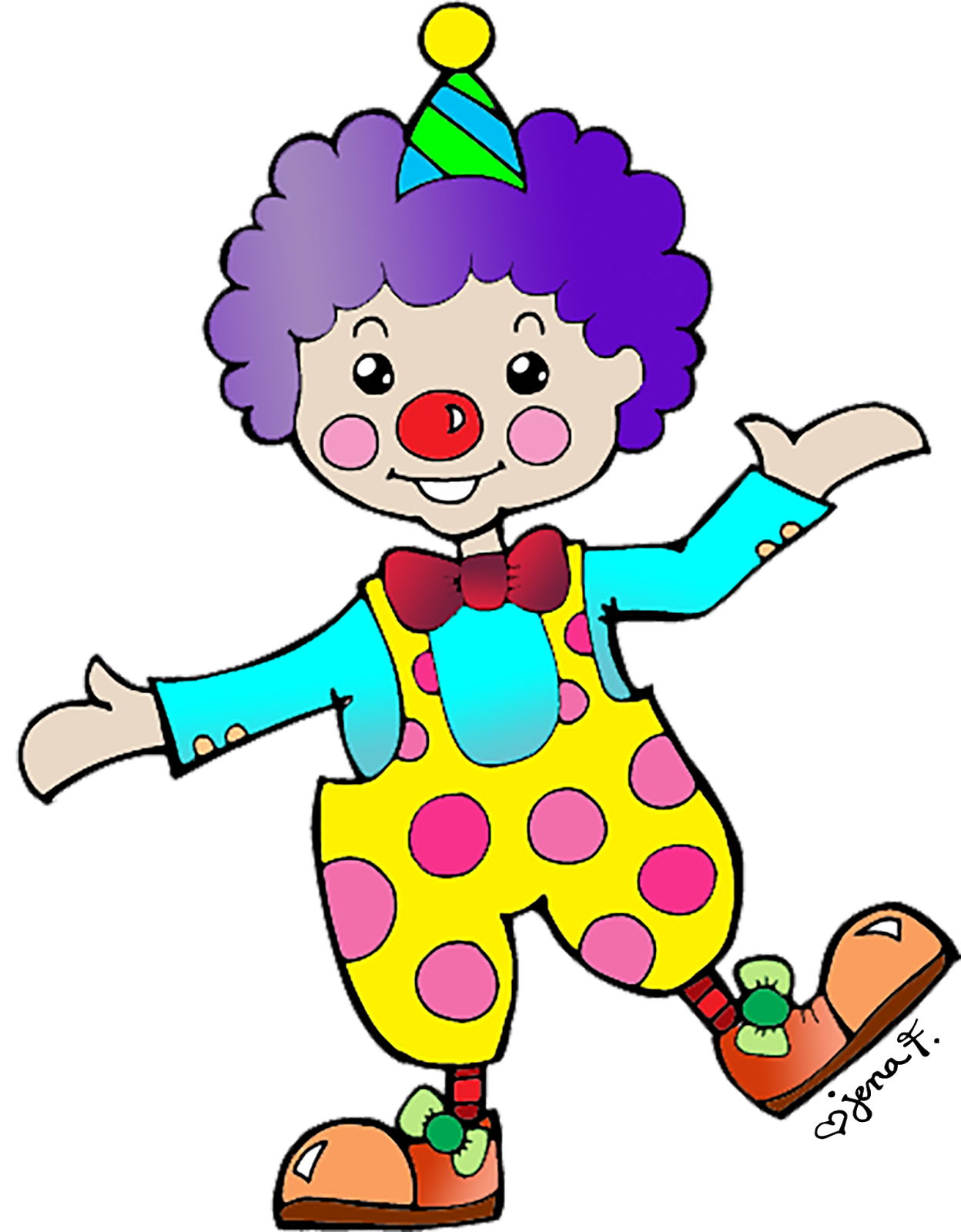Happy Clown Clipart