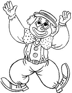 Clown clipart colouring page. Coloring pages for kids