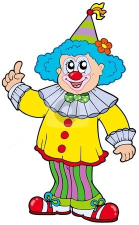 Clown clipart pichers. Funny pictures smiling stock