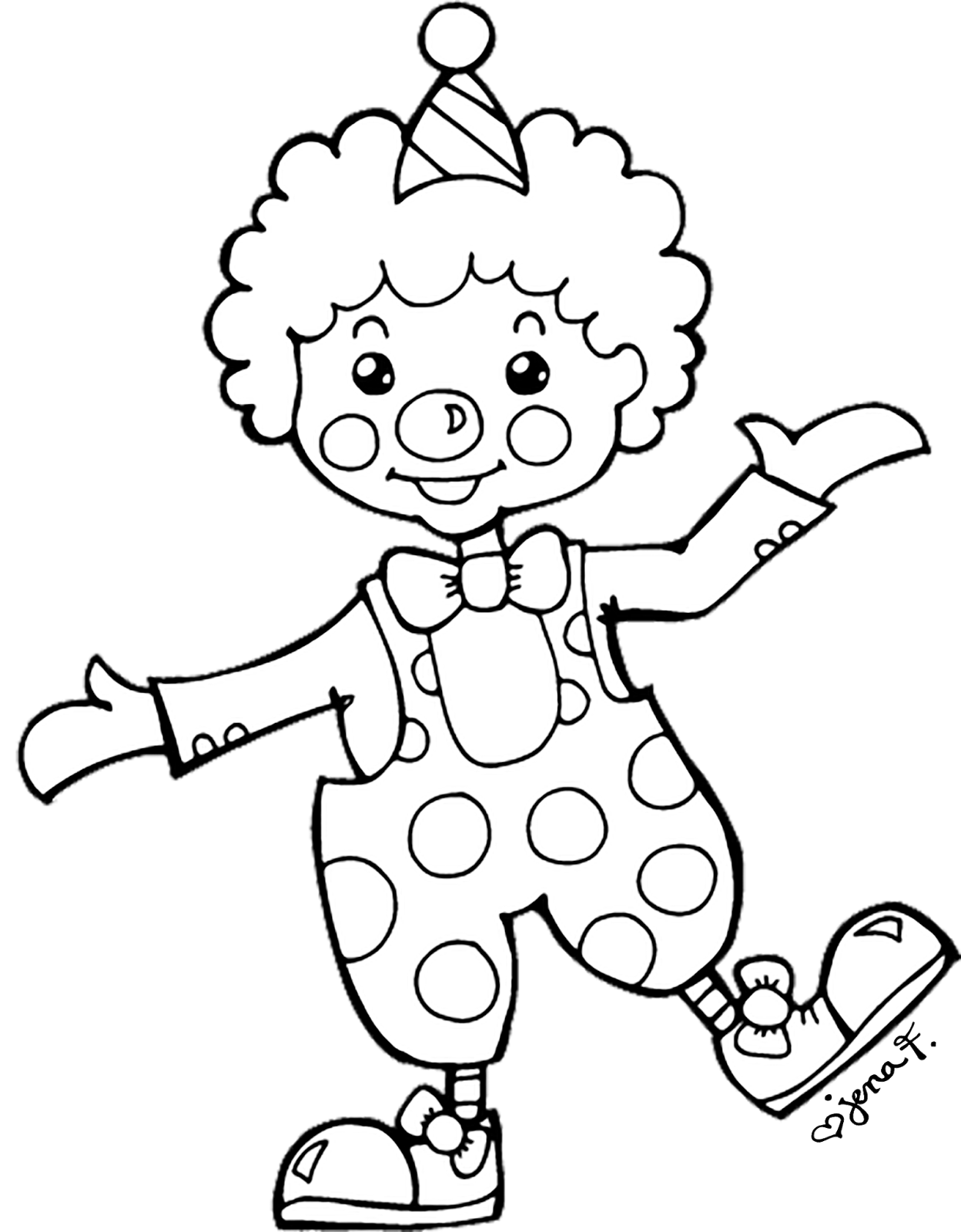 Drawing at getdrawings com. Clown clipart simple picture black and white