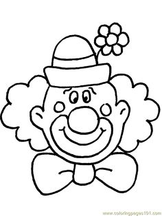 Coloring pages free panda. Clown clipart simple svg library download