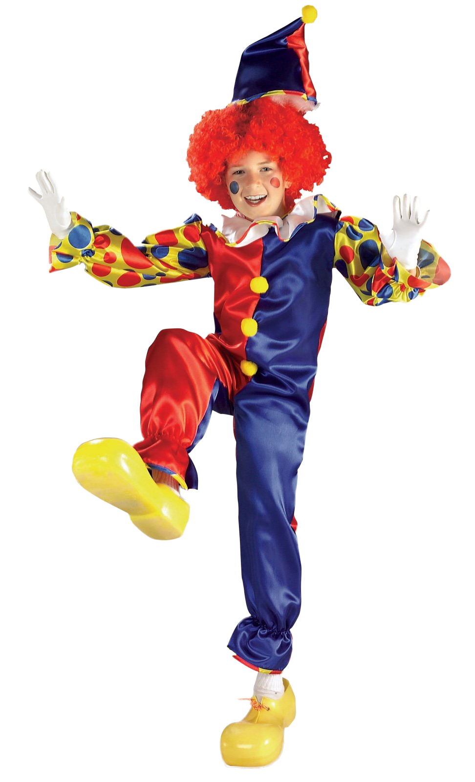 Clown costume png. Kid s bubbles the