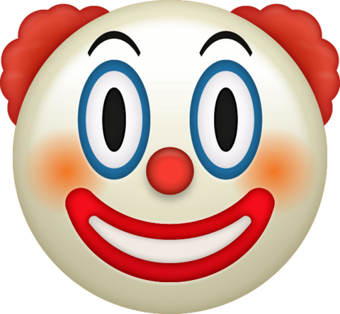 VERSION 105 ◇ back to school Clown-emoji-png-2