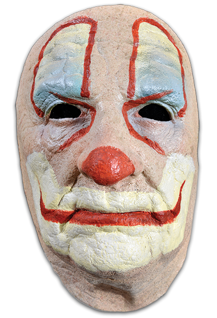 Clown face png. Old halloween mask creepy