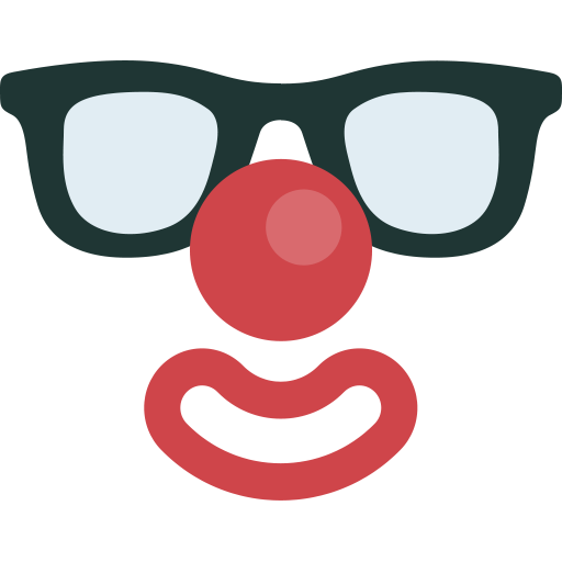 Clown face png. Things by artem white