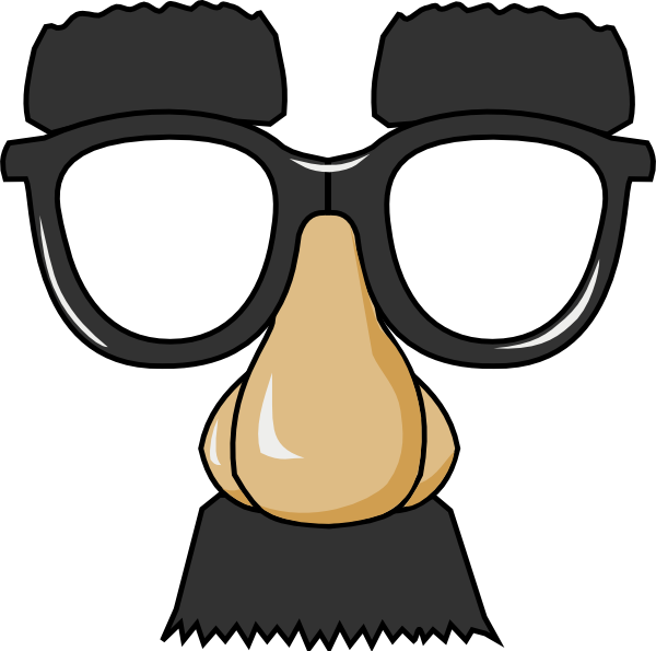 Clown glasses png. Comedic face with clip